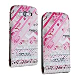 SuperStore_Electronics(TM) Stylish Printing Retro Style Durable Slim-Fit Flip PU Leather Protective Defense Stand Case Cover Compatible For Samsung i9300 Galaxy S3 III (cute striated inverted triangle)