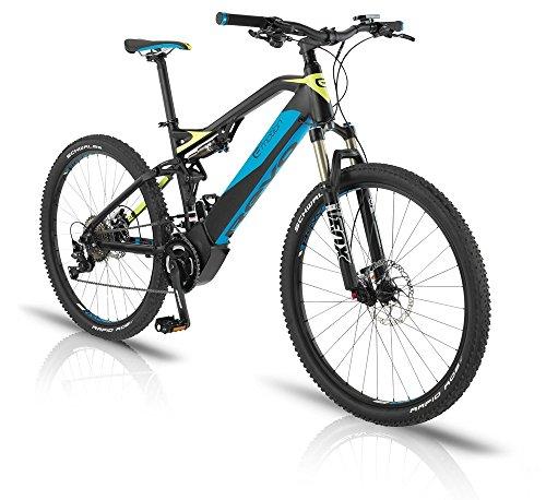 "BH Bikes Revo Jumper 27,5"" E-Bike 14Ah E-Mountainbike schwarz/blau/gelb 2016"
