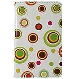 CaseGuru HP Slate Sphere Spotty Fun Printed Pattern Premium Luxury Multi Function Standby Slim Case Cover
