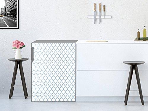 Machine--laver-cuisine-Autocollant-Sticker-Mosaque-murale-Motif-Retro-Pattern-Bleu-60x80-cm