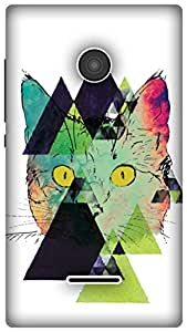 The Racoon Lean Feline Fractals hard plastic printed back case / cover for Microsoft Lumia 435
