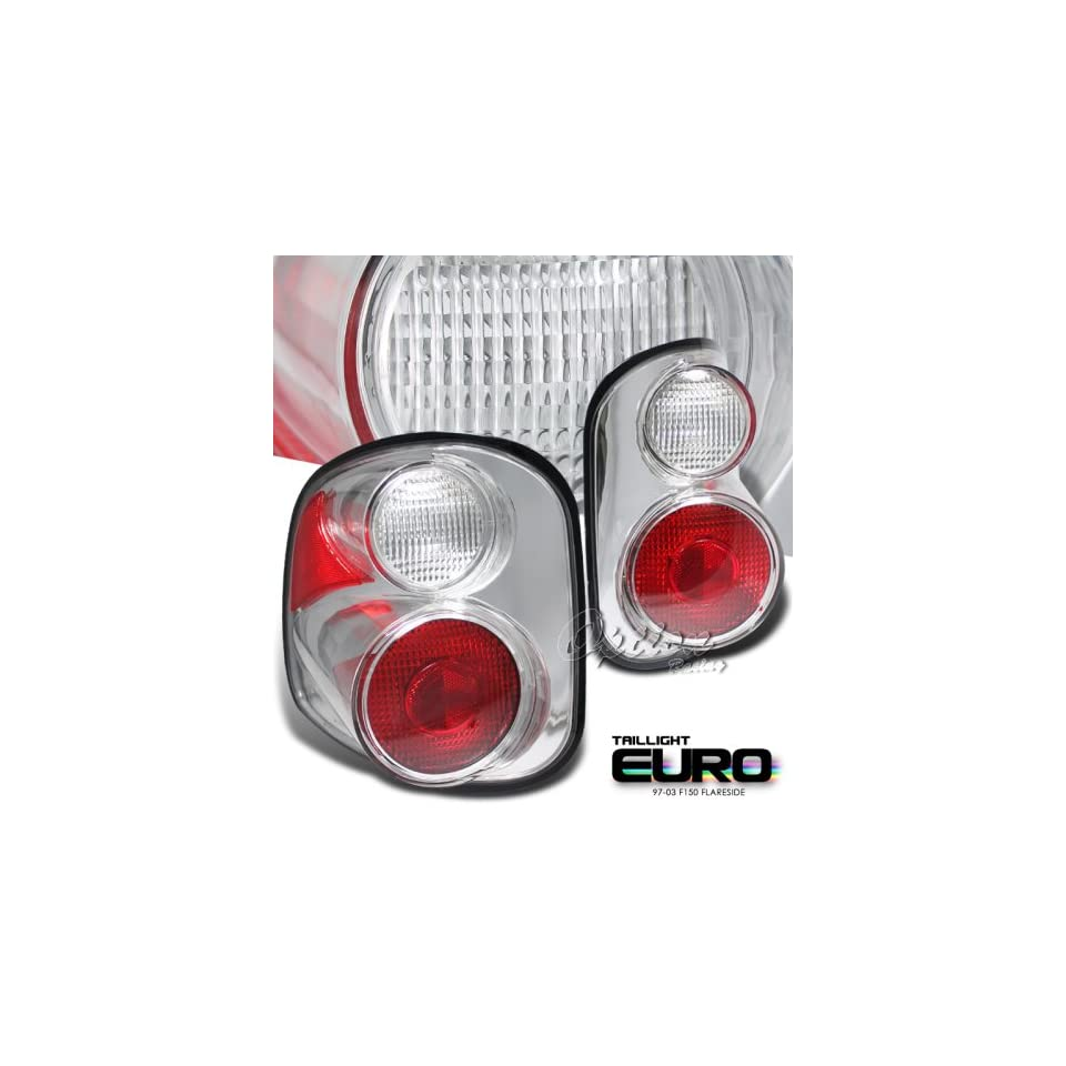1997 1998 1999 2000 FORD F150 F 150 FLARESIDE PICKUP TRUCK CHROME EURO TAIL LIGHTS LAMP