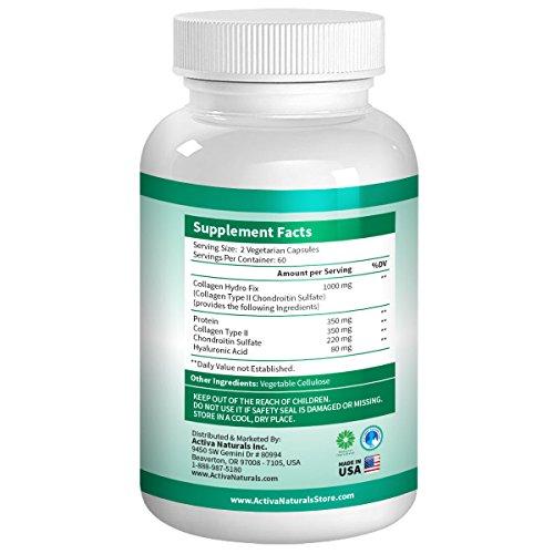 Type 2 hydrolyzed collagen 1000 mg