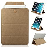 Mulbess - Universal 9 / 10.1 inch (27 cm x 19 cm ) Tablet Sleeve Leather Case Cover with Stand (for Apple iPad 2/3/4/Air 2,Samsung Galaxy Tab/Note/Pro/S 3/4 10.1/10.5 ,Acer Iconia Tab A500/W510,Lenovo ideaTab S6000/K3 Lynx/Yoga,Asus MeMo Pad HD 10/Transf