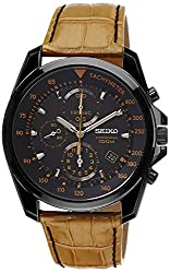 Seiko Sports Chronograph Black Dial Mens Watch - SNDD69P1