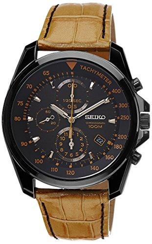 Seiko Sports Chronograph Black Dial Mens Watch - SNDD69P1