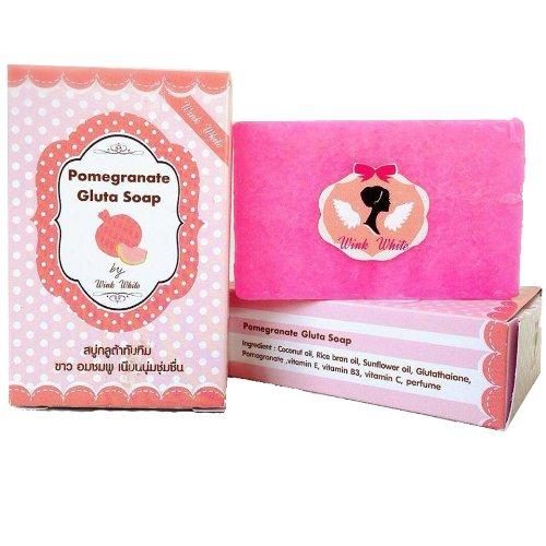 Gluta Pomegranate Soap Pack Of 2 Herbal 70 G Beauty Smoot And Soft Skin