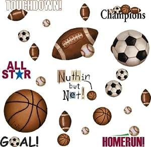 Amazon.com - RMK1001SCS Play Ball Pelar y palo Tatuajes de pared -