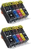 10 Stück Premium Druckerpatronen kompatibel für Canon PGI-525 CLI-526 mit Chip und Füllstandsanzeige