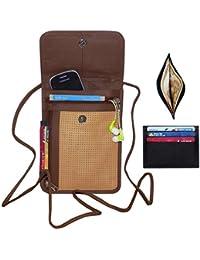 Leather Premium Quality Crossbody Sling Bag - Brown