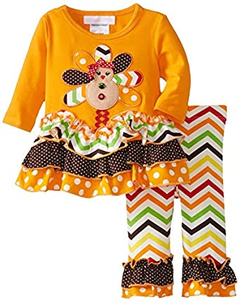 Amazon com bonnie jean girls thanksgiving turkey dress legging outfit