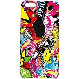 Crackndeal 130QUOCI5C Back cover for Apple iPhone 5C, (Multi-coloured)