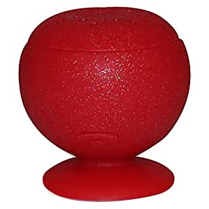 MixBin Wireless Bluetooth Speaker with Suction Cup (Red Glitter)