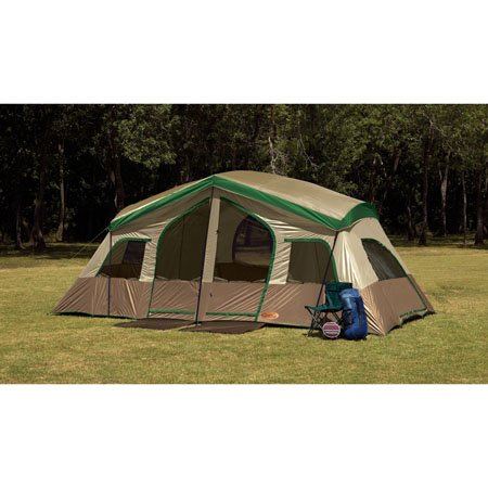 Texsport Sequoia Pass Three-Room Family Cabin Tent (Tan/Green 19-  sc 1 th 225 & Ozark Trail Tent BestSeller