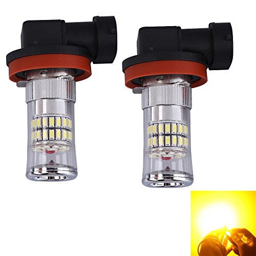 Ecoolbuy 2Pcs Car Fog Lights Lamps Acl-H16W-Smd-48W 48Leds 3014 420Lm Super Bright (Yellow)