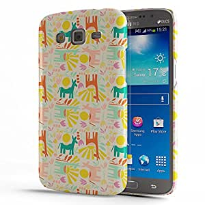 Koveru Designer Printed Protective Snap-On Durable Plastic Back Shell Case Cover for Samsung Galaxy GRAND 2 - Animal Abstract