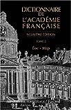 Dictionnaire de l'Académie française : Tome 2, Eoc - Map