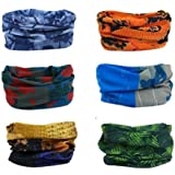 Delicol 6pcs Assorted Seamless Outdoor Sport Bandanna Headwrap Scarf Wrap(9 Sets Options)