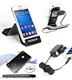 Riona Mobile holder A5S Black + Hanger Stand + Cable Organizer + Scratch Guard Pads