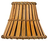 Upgradelights® Bamboo Style 6 Inch Mini Chandelier Lamp Shades Clip on Shades Lampshades