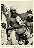 1921 Print Ongole India Telegu Musician Drums Instrument Religious Procession - Original Halftone Print