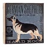 Dogs Rock German Shepherd Wall Art, Purple
