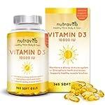 Vitamin D3 10,000 IU by Nutravita   H...