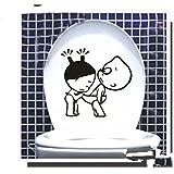 Hangqiao Autocollant Stickers Siège de toilette Art Amovible Salle de Bain Décoration Mur Sticker Carrelage