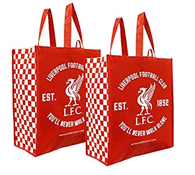 Earthwise Liverpool FC Football Club Large Reusable Multipurpose Tote SHopping Bag (2 Pack)