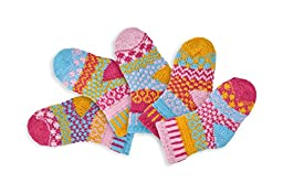 Solmate Socks - Mismatched Baby socks; Two pairs with a spare; Baby Cuddle Bug Small