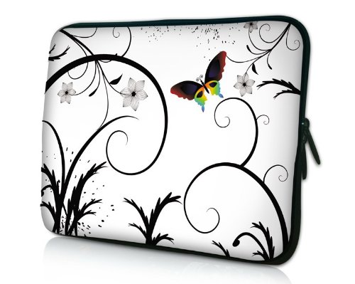14 inch Brilliant Butterfly Escape White Floral
