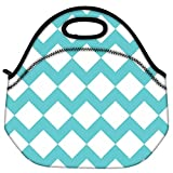 Snoogg Waves Vs Wave 2570 Travel Outdoor Carry Lunch Bag Picnic Tote Box Container Zip Out Removable Carry Lunchbox Handle Tote Lunch Bag Food Bag For School Work Office