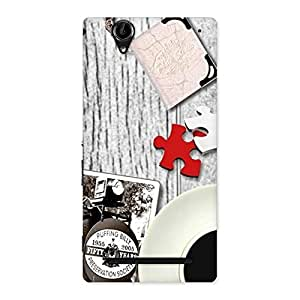 Special Vintage Style Multicolor Back Case Cover for Sony Xperia T2