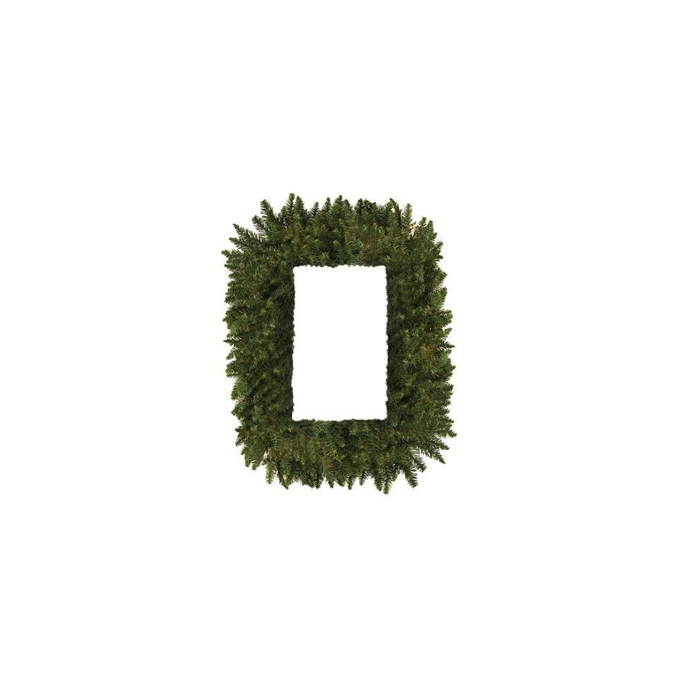 36 Camdon Fir Rectangular Artificial Christmas Wreath   Unlit
