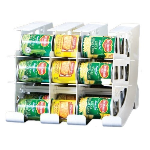 FIFO Can Tracker- Food Storage Canned Foods Organizer/Rotater/Dispenser: Kitchen, Cupboard, Pantry- Rotate Up To 54 Cans (Can Organizer Rack compare prices)