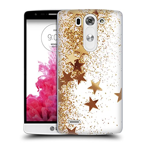 Official Monika Strigel Gold Shaky Stars Hard Back Case for LG G3 S / G3 Beat / G3 Vigor (Lg G3 Beat Gold compare prices)