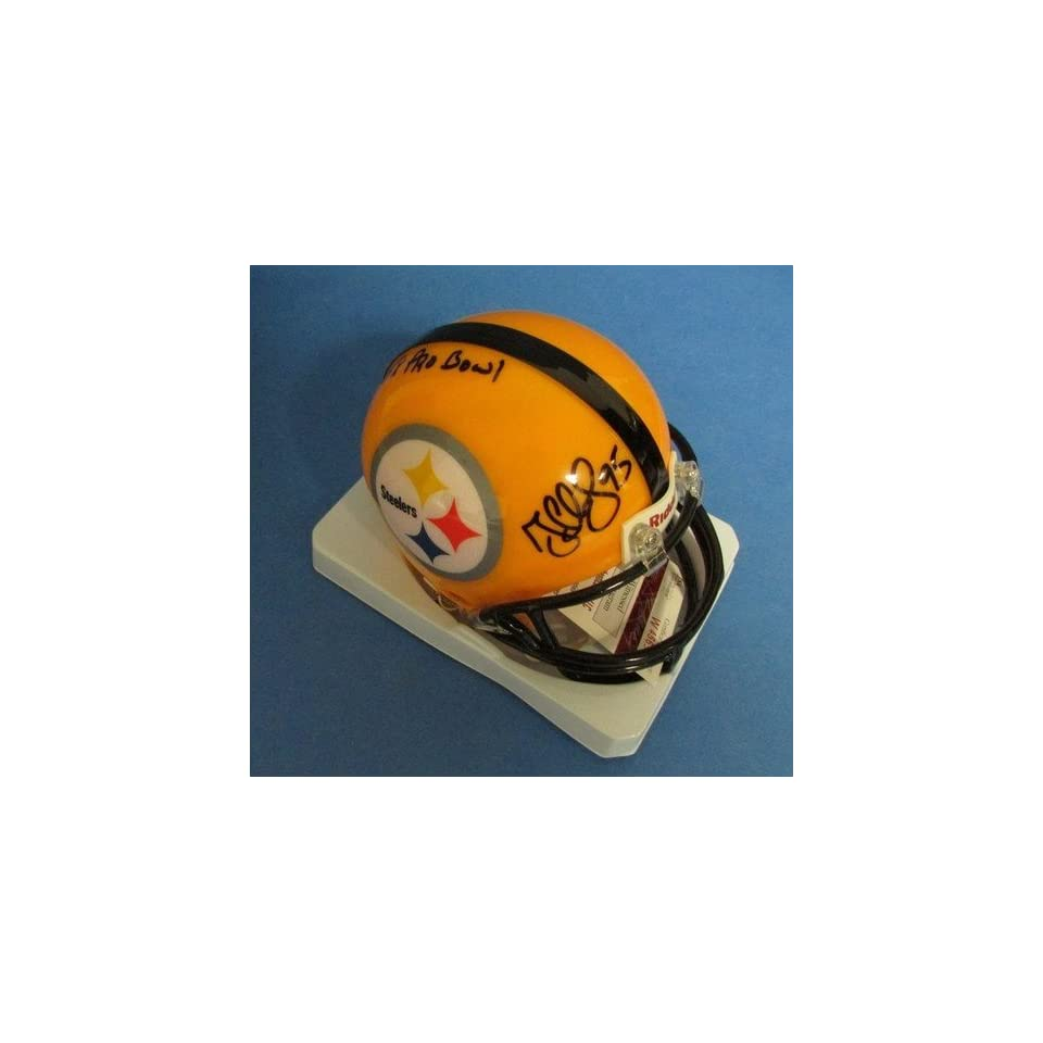 "Greg Lloyd ""5x Pro Bowl"" Ins Steelers Signed/Autographed Mini Helmet JSA W456989 Sports Collectibles"