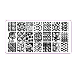 Susenstone®1Pc Nail Art Image Stamp Stamping Plates Manicure Template DIY Template Tool (03)