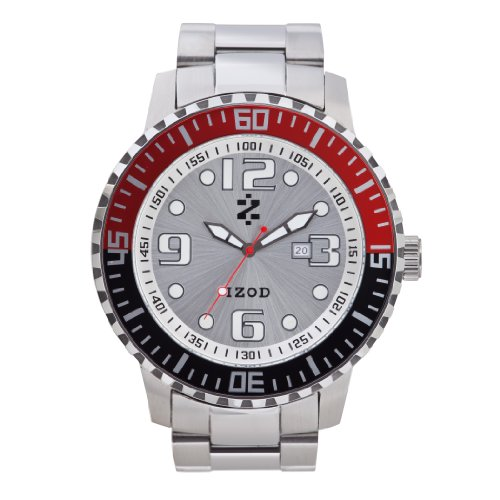 IZOD Men's IZS5/8 RED/BLK Sport Quartz 3 Hand Watch