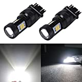 JDM ASTAR Extremely Bright 3030 Chipsets 3056 3156 3057 3157 4157 LED Bulbs with Projector, Xenon White
