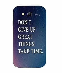 Make My Print Slogan Printed Multicolor Hard Back Cover For Samsung Galaxy J1