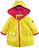 Wippette Baby Girls Infant Waterproof Classic Hooded Solid Raincoat Jacket