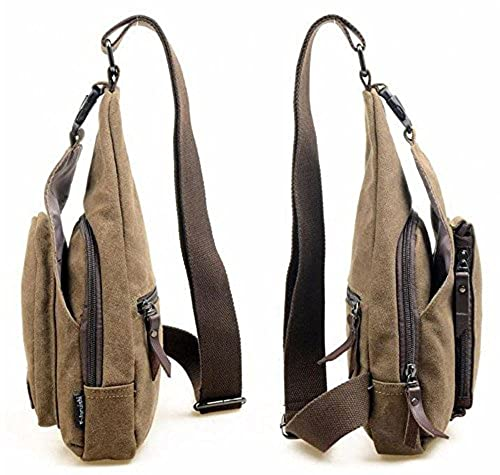 Cuteme® Men's Small Canvas Shoulder Travel Hiking Bag
