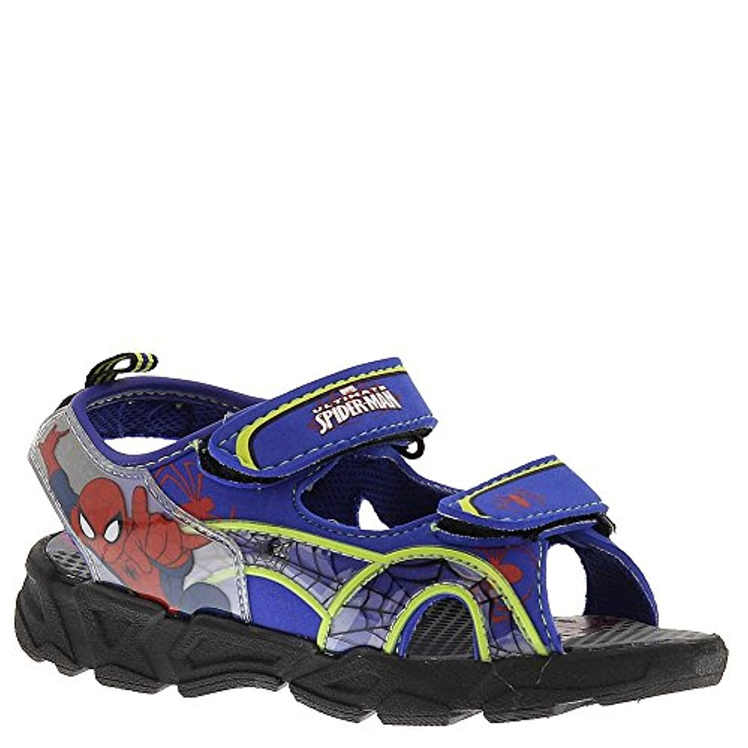 396fcdad389a84 ... Marvel Ultimate Spider-Man Athletic Sandals Light-Up Blue Green Red (