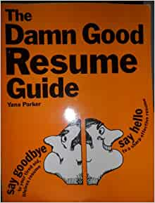 the damn resume guide yana 9780898151121