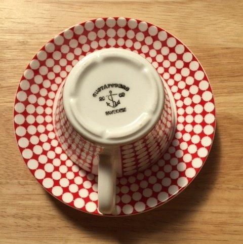グスタフスベリ(Gustavsberg) EVAエヴァ コーヒーカップ&ソーサー 【復刻版】A2 [並行輸入品]