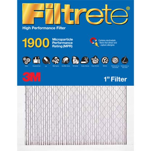Filtrete UA01-6PK Ultimate Allergen Reduction Filters, 1900 MPR, 16 x 25 x 1, 6-Pack