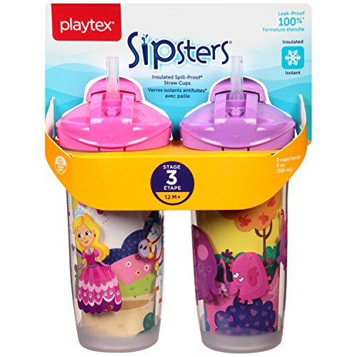 Playtex Playtime Insulator Straw Cup, 9 oz, 2 ct (Playtex Spill Proof Cup compare prices)