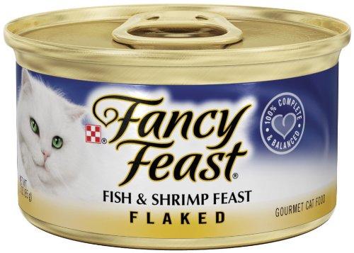 Fancy Feast Gourmet Cat Food, Flaked Fish & Shrimp