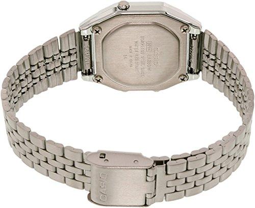 Casio Ladies Mid-Size Silver Tone Digital Retro Watch LA-680WA-7DF 1